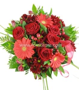 flores para cumpleaños rojas