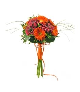 flores cumpleaños naranjas
