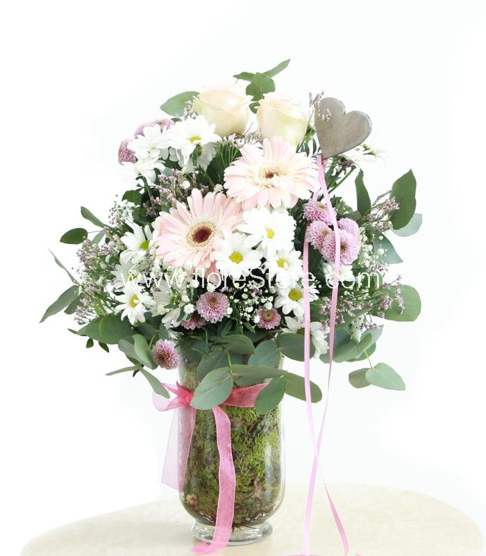 composicion flores
