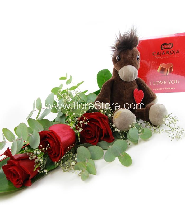 pack 3 rosas