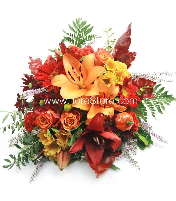 ramo de flores de otoño